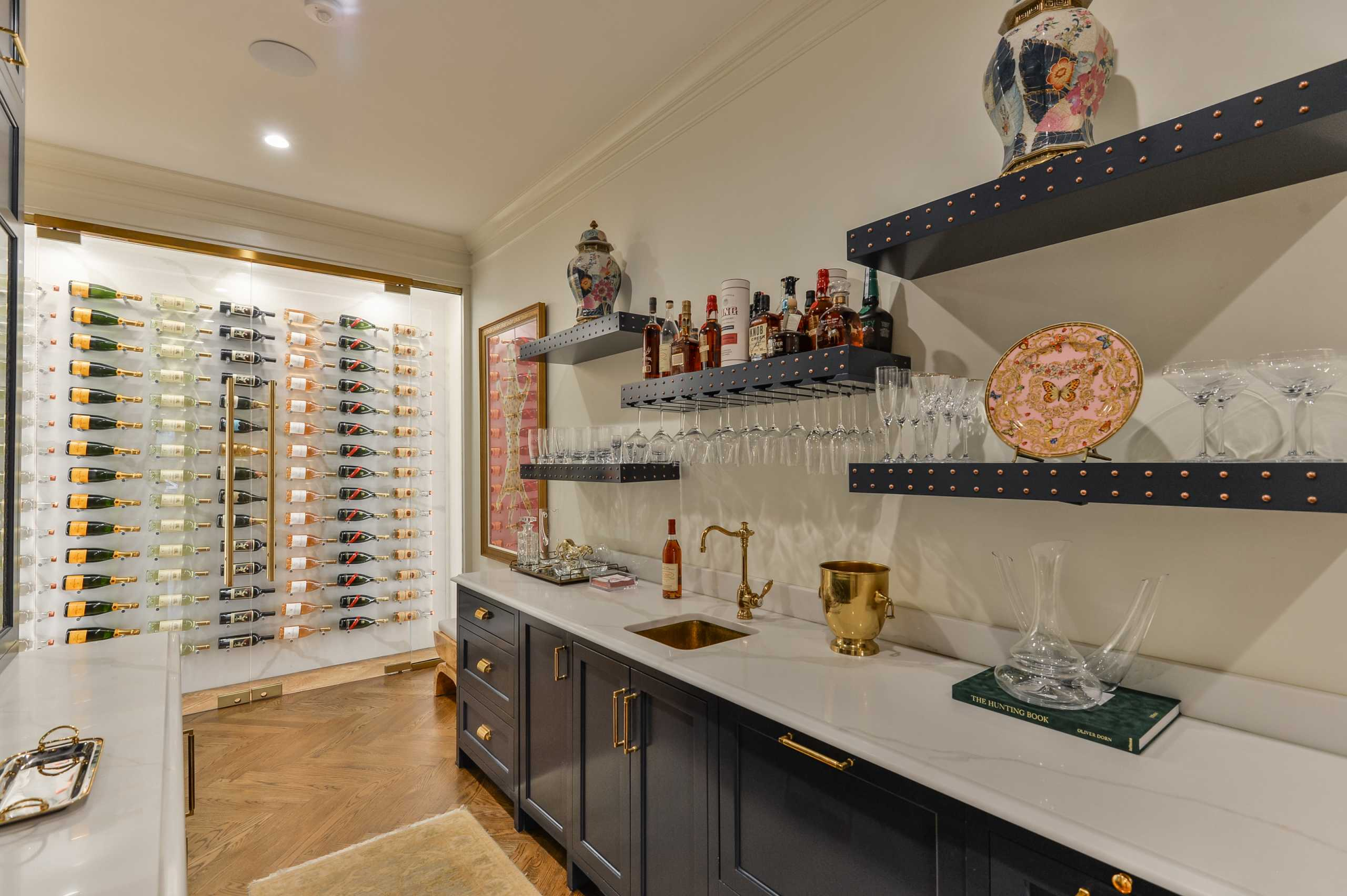 Louisville Custom Home Bar Cabinetry