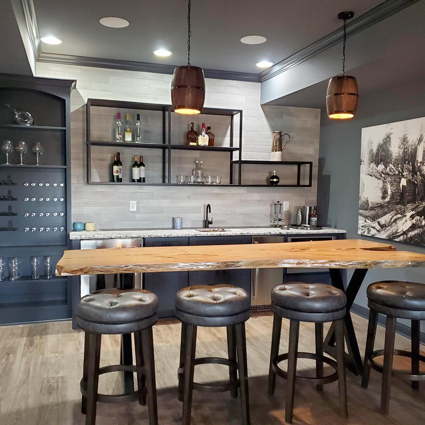 Louisville Home Bar Custom Cabinetry